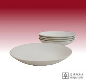 20150921 多田神社様(九頭神社様) 皿 素焼き 7寸 3s