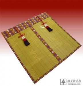 20151230 丹生神社様 御簾 正絹本倭錦 麻房付き 105×106cm 1sのコピー